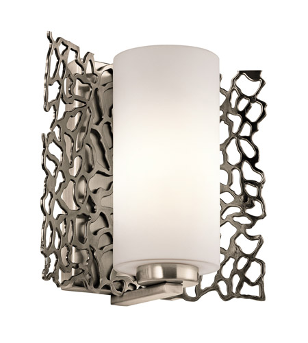 sc 1 st  Kichler Lighting Lights & Kichler Silver Coral 1 Light Wall Sconce in Classic Pewter 43353CLP