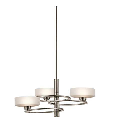 Kichler 43364CLP Aleeka 3 Light 28 inch Classic Pewter Chandelier 1 Tier Large Ceiling Light photo