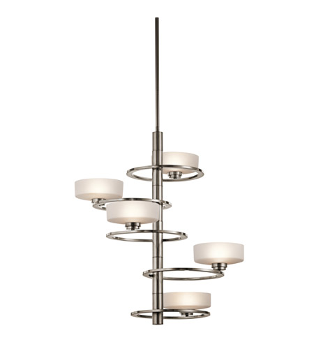 Kichler Aleeka 5 Light Chandelier Multi Tier in Classic Pewter 43366CLP photo
