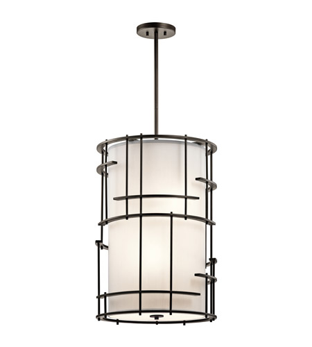Kichler tremba 4 light foyer pendant in olde bronze 43369oz aloadofball Images