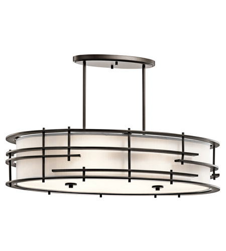 Kichler Tremba 6 Light Chandelier Oval Pendant in Olde Bronze 43370OZ photo