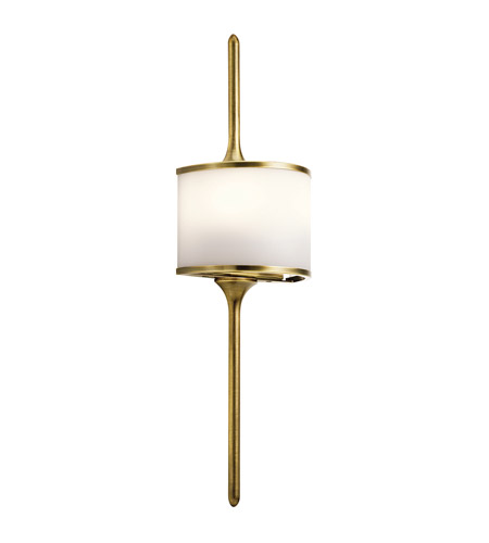 Kichler 43375NBR Mona 2 Light 7 inch Natural Brass Wall Sconce Wall Light photo