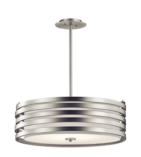 Kichler 43390NI Roswell 4 Light 24 inch Brushed Nickel Pendant Ceiling Light photo
