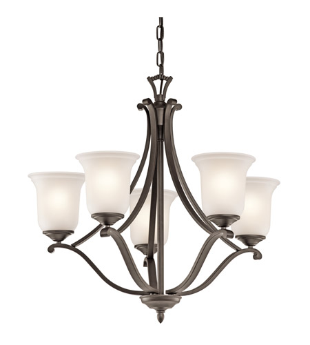 Kichler Lighting Wellington Square 5 Light Chandelier in Olde Bronze 43401OZ photo