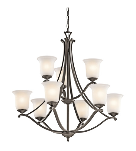 Kichler Lighting Wellington Square 9 Light Chandelier in Olde Bronze 43402OZ photo