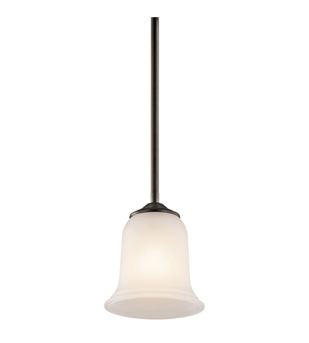Kichler Lighting Wellington Square 1 Light Mini Pendant in Olde Bronze 43404OZ