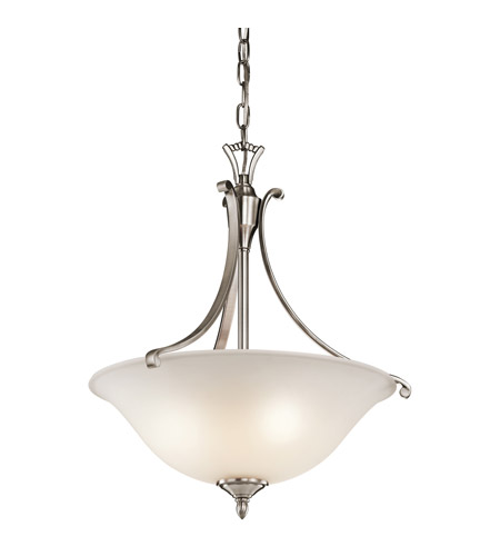 Kichler Lighting Wellington Square 3 Light Pendant in Classic Pewter 43405CLP