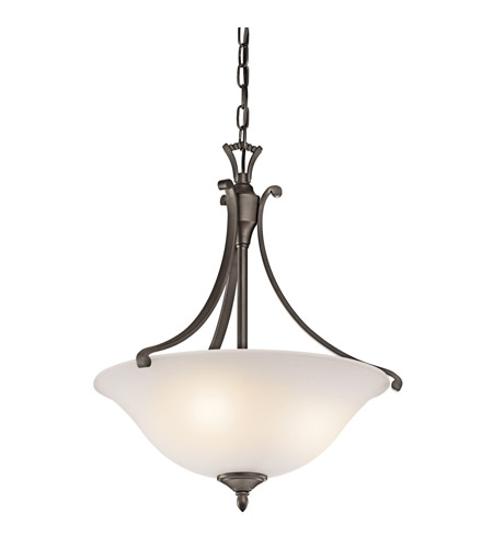 Kichler Lighting Wellington Square 3 Light Pendant in Olde Bronze 43405OZ