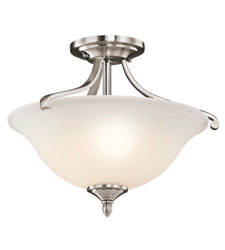 Kichler Lighting Wellington Square 2 Light Semi-Flush in Classic Pewter 43406CLP