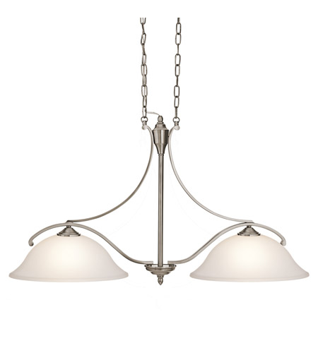 Kichler Lighting Wellington Square 2 Light Island Light in Classic Pewter 43407CLP photo