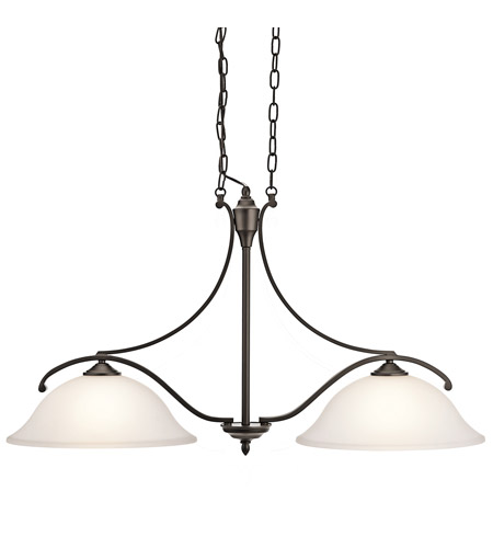 Kichler Lighting Wellington Square 2 Light Island Light in Olde Bronze 43407OZ