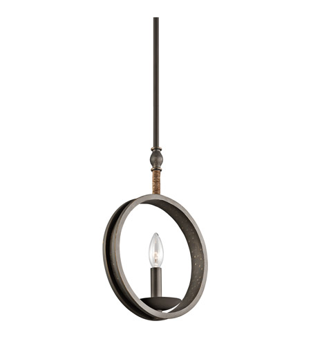 Kichler 43425OZ Kearn 1 Light 10 inch Olde Bronze Mini Pendant Ceiling Light photo