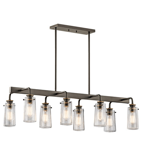 Kichler 43457OZ Braelyn 8 Light 15 inch Olde Bronze Chandelier Linear (Double) Ceiling Light photo