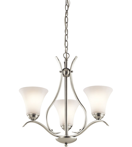 Kichler 43503NI Keiran 3 Light 21 inch Brushed Nickel Chandelier Ceiling Light photo