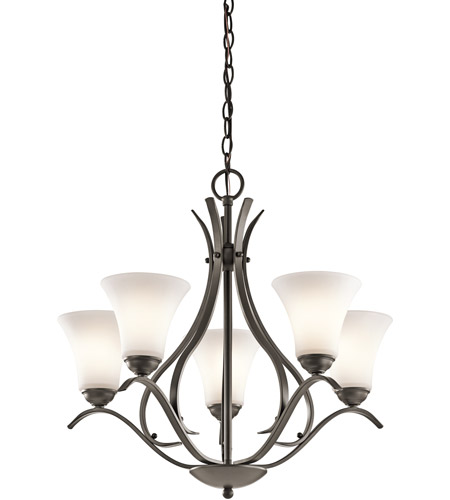 Kichler 43504OZL18 Keiran LED 25 inch Olde Bronze Chandelier Ceiling Light, Medium photo thumbnail