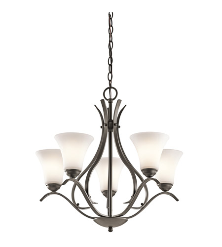 Kichler 43504OZL16 Keiran LED 25 inch Olde Bronze Chandelier Ceiling Light, Medium photo