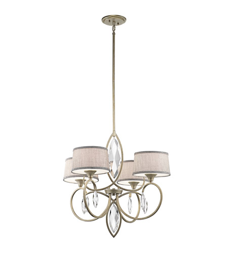 Kichler 43565SGD Casilda 4 Light 29 inch Sterling Gold Chandelier 1 Tier Large Ceiling Light photo