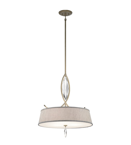 Kichler 43566SGD Casilda 3 Light 22 inch Sterling Gold Shade Pendant Ceiling Light photo
