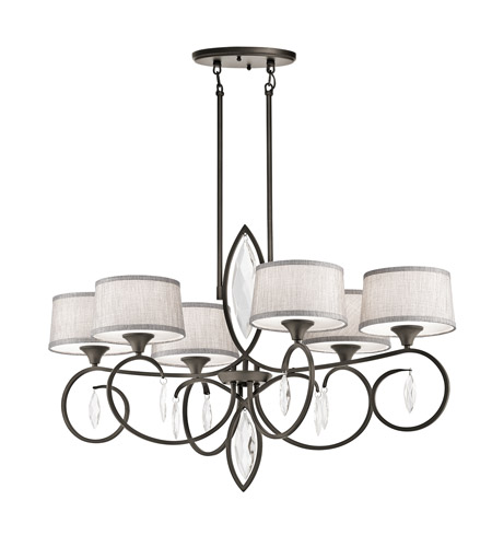 Kichler 43569OZ Casilda 6 Light 23 inch Olde Bronze Chandelier Ceiling Light photo