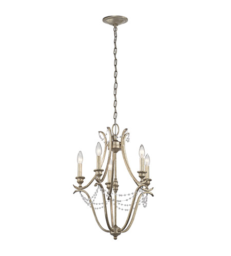 Kichler 43607sgd abellona 5 light 18 inch sterling gold mini kichler 43607sgd abellona 5 light 18 inch sterling gold mini chandelier ceiling light mozeypictures Image collections