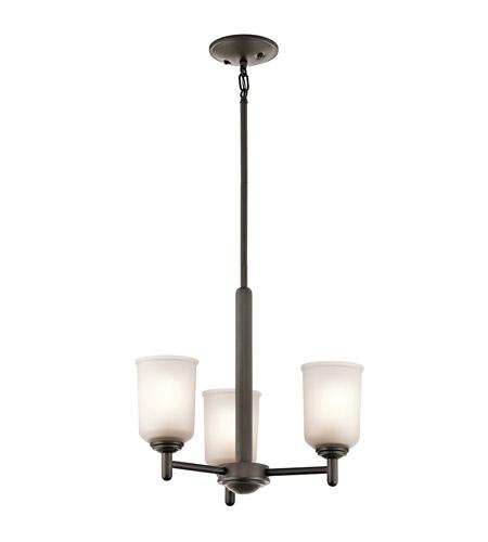 Kichler 43670oz Shailene 3 Light 18 Inch Olde Bronze Mini Chandelier Ceiling