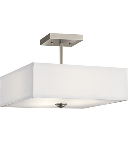 8bdefc520b7 Large Flush Mount Ceiling Light · Kichler Brushed Nickel Steel Semi-Flus.