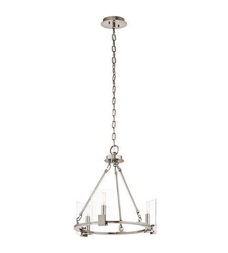 Kichler 43700CLP Signata 3 Light 18 inch Classic Pewter Mini Chandelier Ceiling Light photo
