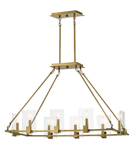 Kichler 43703NBR Signata 8 Light 18 inch Natural Brass Chandelier Ceiling Light photo