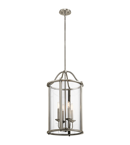 Dining Room Lighting Emory Collection Emory 3 Light: Kichler 43709CLP Emory 4 Light 15 Inch Classic Pewter