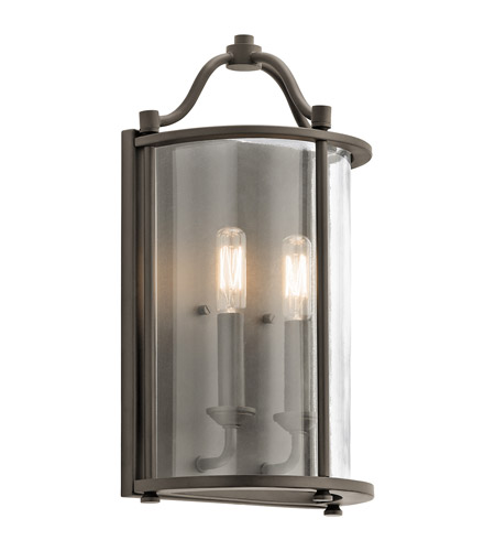 Kichler 43710OZ Emory 2 Light 9 Inch Olde Bronze Wall Sconce Wall Light