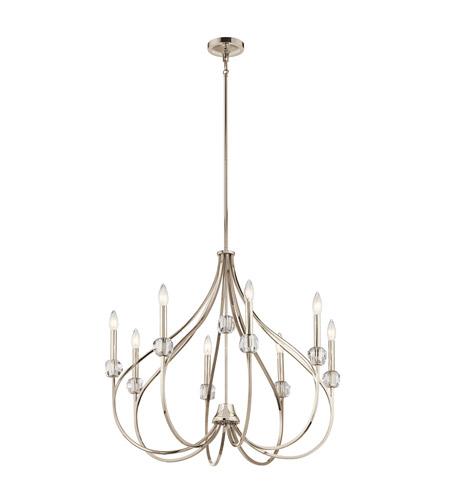 Kichler 43721pn eloise 8 light 30 inch polished nickel chandelier kichler 43721pn eloise 8 light 30 inch polished nickel chandelier ceiling light aloadofball Choice Image