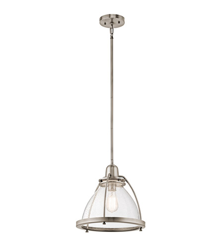 Kichler 43737CLP Silberne 1 Light 13 inch Classic Pewter Pendant Ceiling Light photo