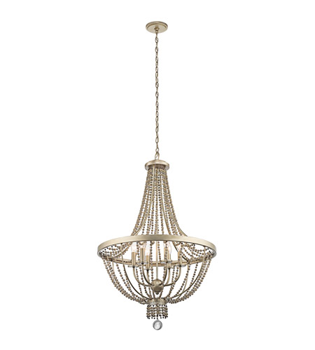 Kichler 43811SGD Birkdale 6 Light 24 inch Sterling Gold Chandelier Ceiling Light  photo