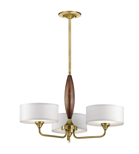 Kichler 43839nbr Lucille 3 Light 24 Inch Natural Br Chandelier Ceiling