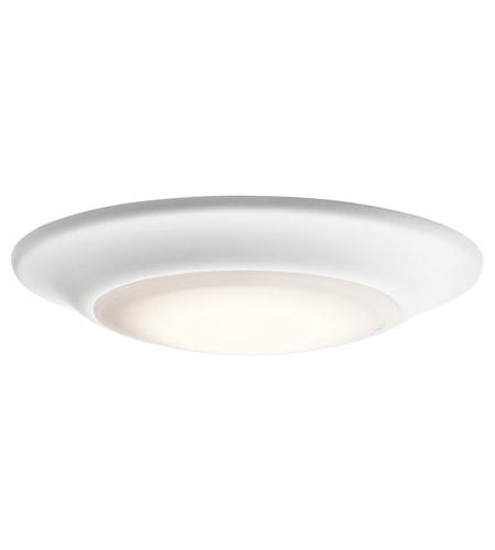 Kichler 43845whled27 signature 1 light 6 inch white flush mount kichler 43845whled27 signature 1 light 6 inch white flush mount ceiling light in 2700k aloadofball Images