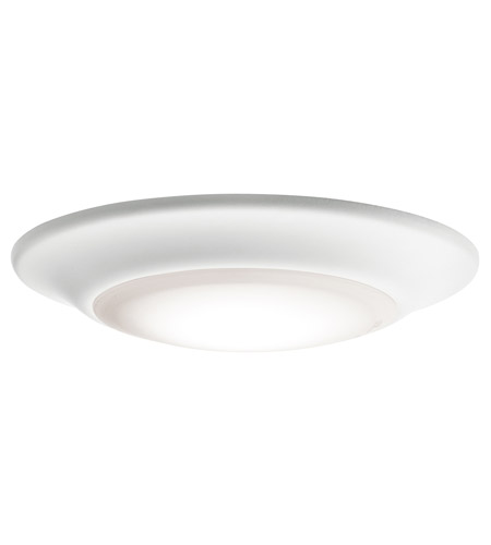 Kichler 43845whled30 signature 1 light 6 inch white flush mount kichler 43845whled30 signature 1 light 6 inch white flush mount ceiling light in 3000k aloadofball Image collections