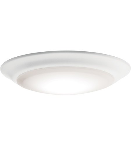 Kichler 43846WHLED40 No Family White Downlight in Single, 4000K, White Polycarbonate photo