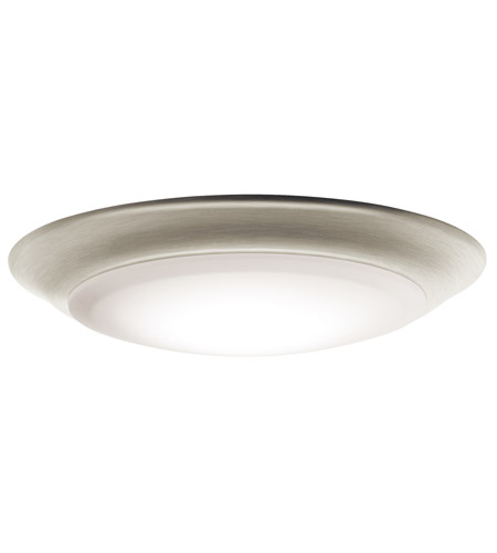 Kichler 43848NILED30T Signature LED 8 Inch Brushed Nickel Flush Mount  Ceiling Light