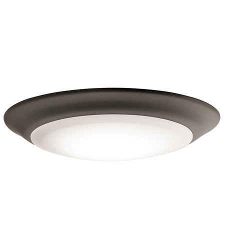 Kichler 43848OZLED30 Signature 1 Light 8 inch Olde Bronze Flush Mount Ceiling Light, Dimmable photo