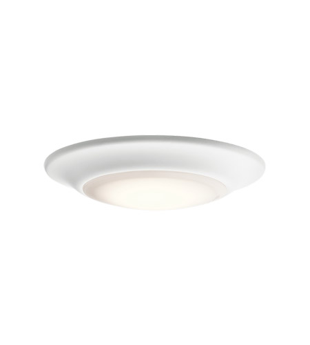 Kichler 43848WHLED30 Signature 1 Light 8 Inch White Flush Mount Ceiling  Light In 3000K, Dimmable