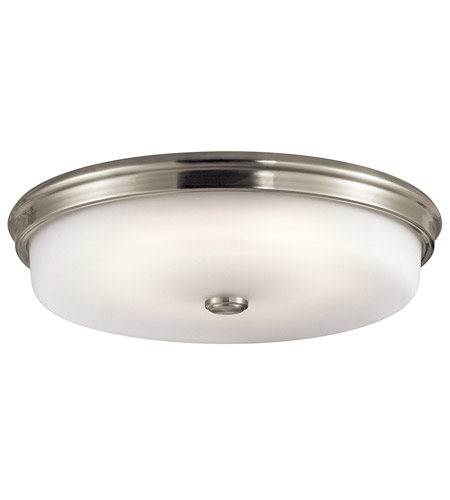 Kichler 43876NILED Signature 1 Light 18 inch Brushed Nickel Flush Mount Ceiling Light in Satin Nickel photo