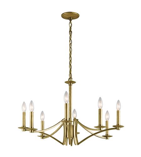 Kichler 43907nbr Grayson 8 Light 28 Inch Natural Brass