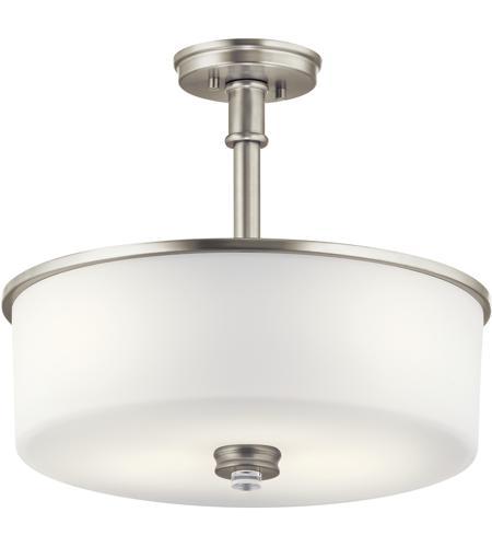 kichler 43925ni joelson 3 light 18 inch brushed nickel convertible pendantsemi flush ceiling light in standard