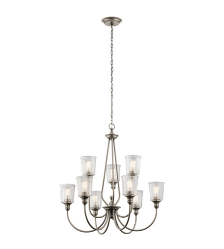 Kichler 43948CLP Waverly 9 Light 32 inch Classic Pewter Chandelier Ceiling Light photo