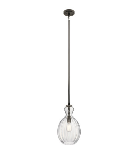 Kichler 43953OZ Riviera 1 Light 9 inch Olde Bronze Pendant Ceiling Light
