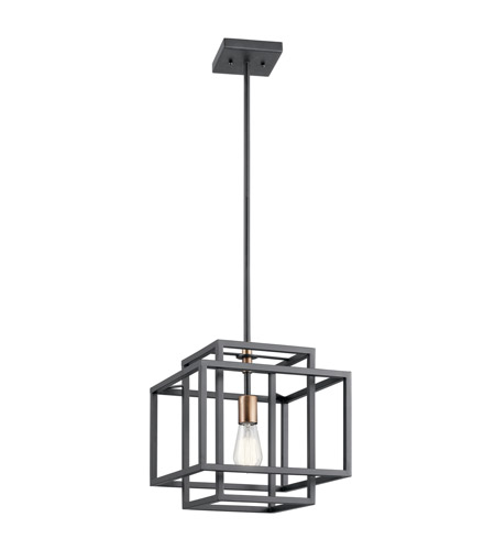 Kichler 43982BK Taubert 1 Light 12 inch Black Pendant Ceiling Light photo
