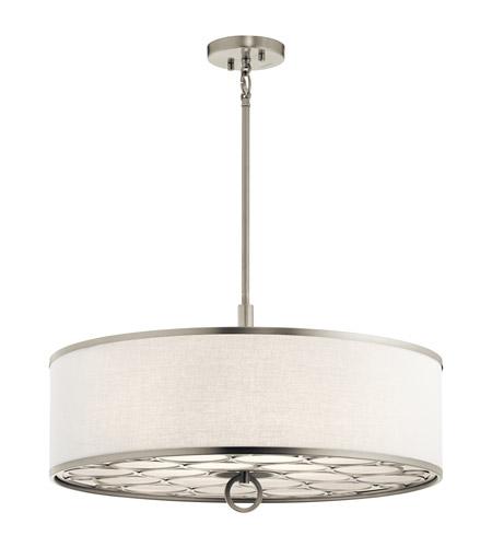 Melrose 4 Light 24 Inch Brushed Nickel Semi Flush Mount Ceiling