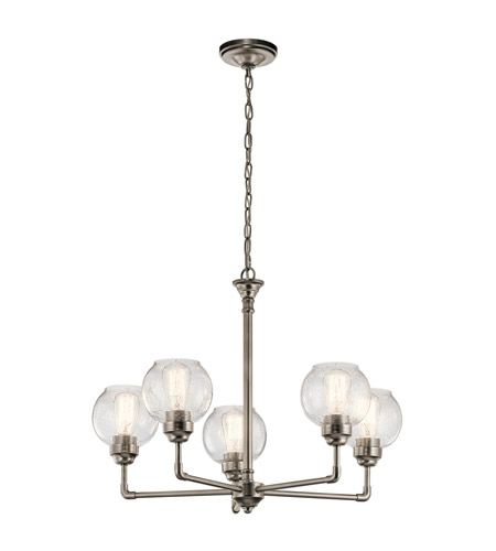 Kichler 43993AP Niles 5 Light 26 inch Antique Pewter Chandelier Ceiling  Light, Medium - Kichler 43993AP Niles 5 Light 26 Inch Antique Pewter Chandelier