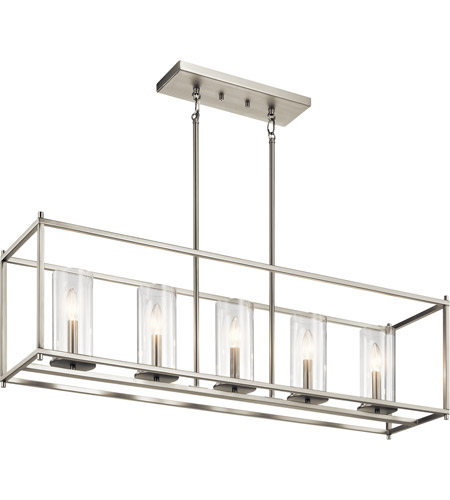 Kichler 43995ni crosby 5 light 10 inch brushed nickel chandelier kichler 43995ni crosby 5 light 10 inch brushed nickel chandelier ceiling light linear aloadofball Image collections