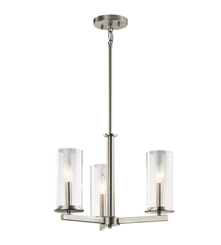 sc 1 st  Kichler Lighting Lights & Kichler 43997NI Crosby 18 inch Brushed Nickel Chandelier Ceiling Light azcodes.com